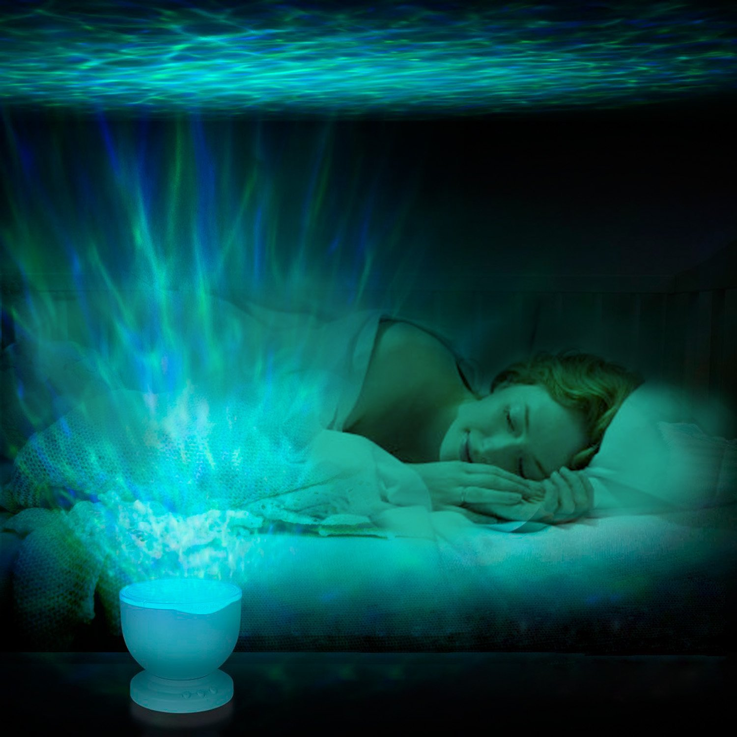Best plug in night light ocean projectors the mermaids home ocean wave ceiling projector mozeypictures Choice Image
